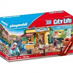 PLAYMOBIL City Life 70336 Pizzeria z Ogródkiem Restauracyjnym