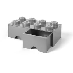 LEGO Pojemnik 8 na Zabawki z Szufladą SZARY 9586