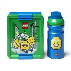 LEGO Pojemnik na Śniadanie + Bidon LUNCH SET Boy 4058